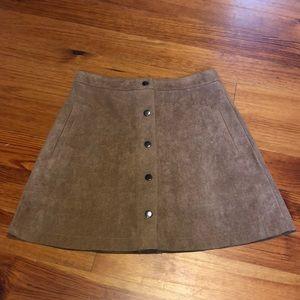 NWOT lush brand suede tan skirt